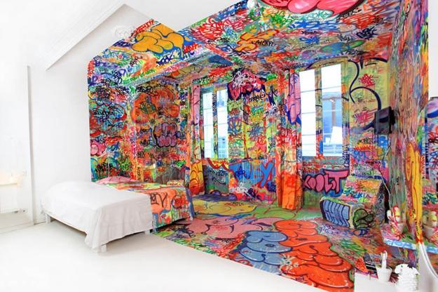 Необычная покраска стен своими руками