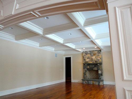 Кессонные навесные потолки