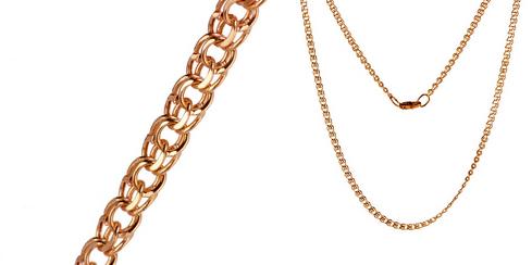 Золотые цепочки – украшение на все времена