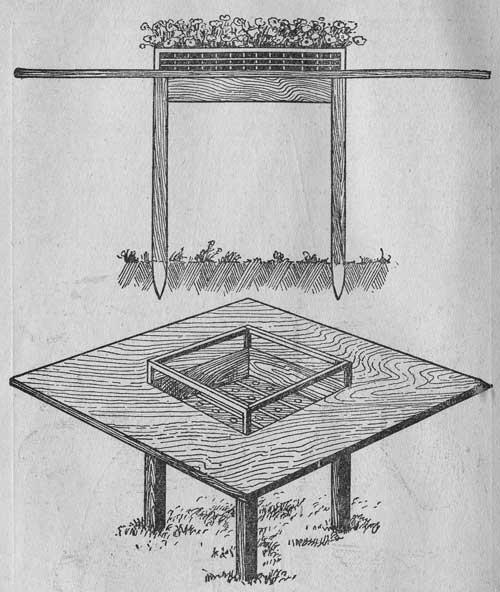 Столик с ящиком для цветов