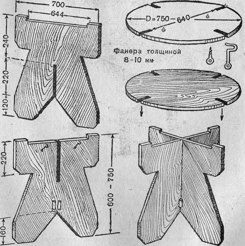 Как сделать круглый стол из фанеры своими руками 61