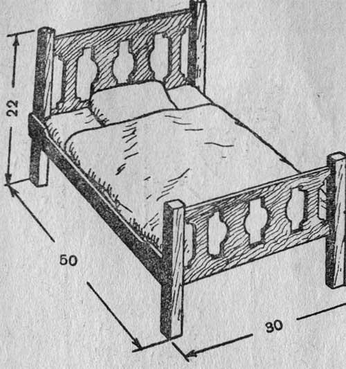 Как сделать кроватку для куклы своими руками из фанеры схема фото 98