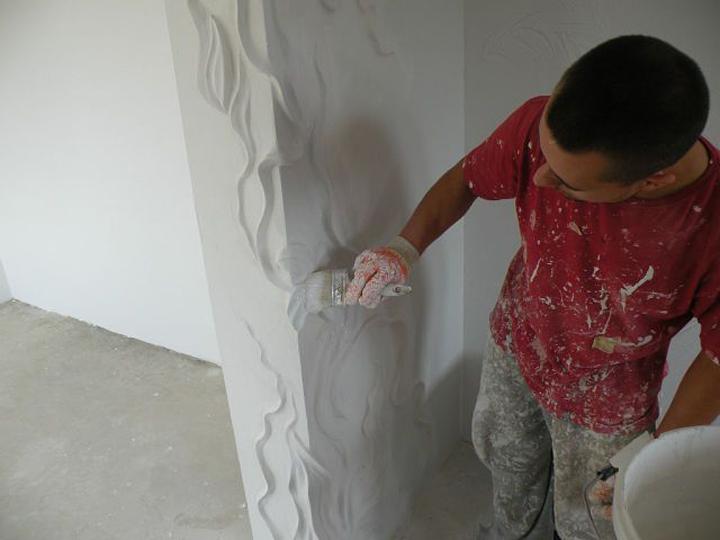 Стены из гипсовой штукатурки своими руками