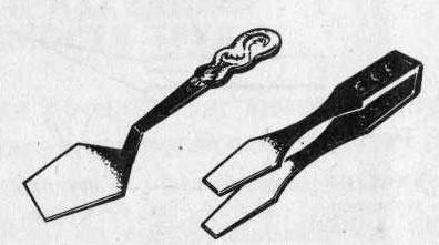 Приспособления для подачи кондитерских изделий: лопатка и кондитерские щипцы