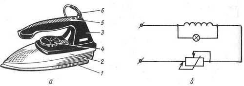Электросхема утюга.