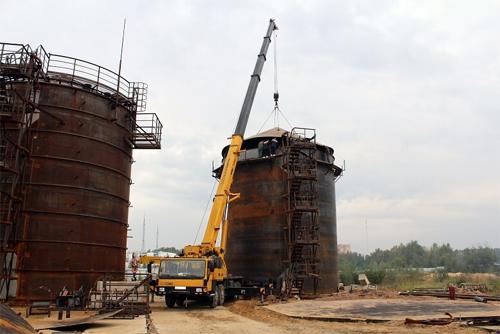 Монтаж резервуаров вертикальных стальных