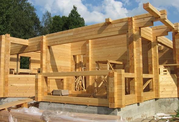 Этапы строительства домов из профилированного бруса