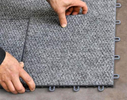 Как укладывать ковровую плитку?
