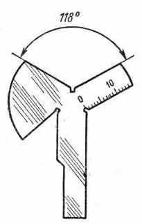 Шаблон для заточки сверл чертежи