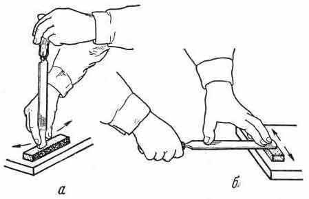 Заточка плоского шабера - Шабрение плоской поверхности ...