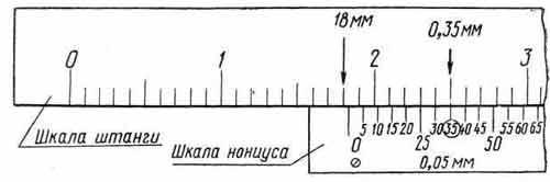 Как пользоваться штангенциркулем 0.05