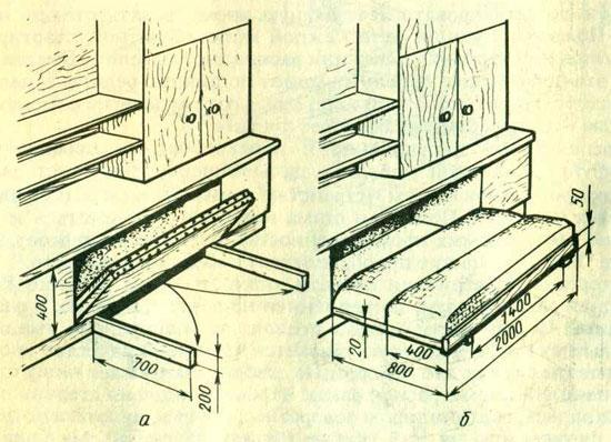 Складная кровать чертежи