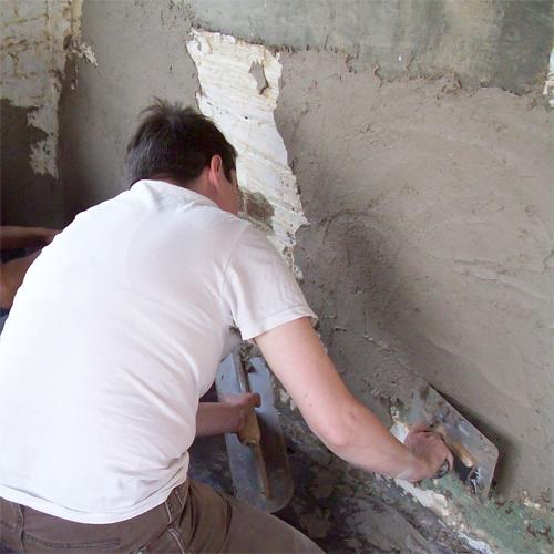 Штукатурим бетонные стены своими руками