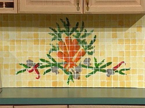 Штампованная плитка для кухонного фартука