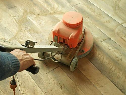 Как шлифовать деревянный пол своим руками