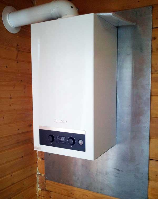 Установка газового котла на стену