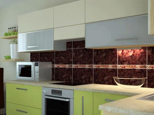 Кухонный фартук из качественной плитки