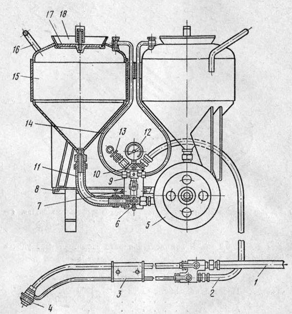 Установка СО-21 для нанесения жидкой шпатлевки