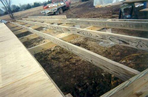 Делаем деревянный черновой пол