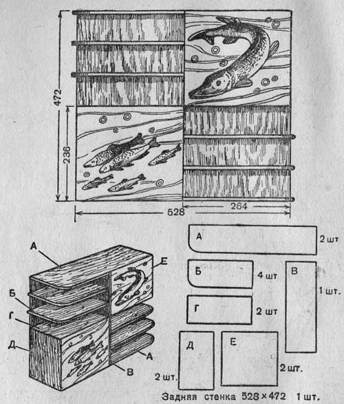Полка-шкафчик с дверцами