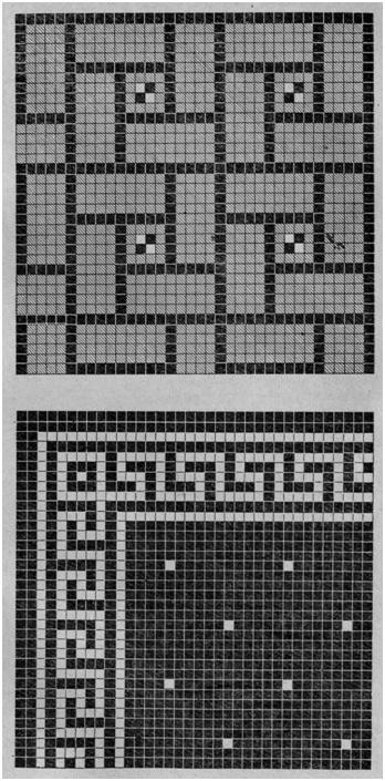 Образцы полов, выполненные из карт ковровой мозаики