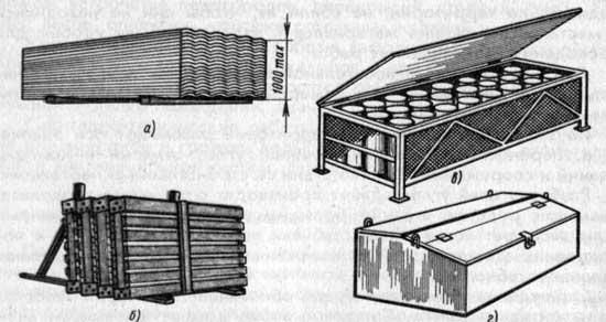 Складирование на стройках строительных материалов