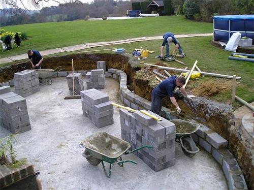 Строительство пруда и гидроизоляция фундамента