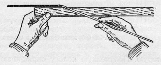 Вытягивание горизонтальной филенки