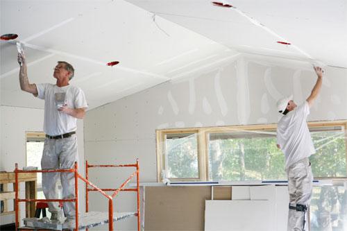 Изготовление потолка из гипсокартона