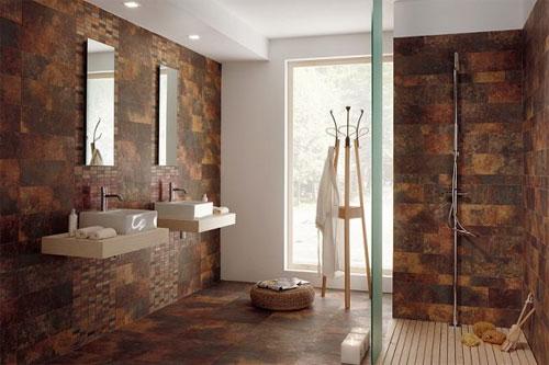 Горный пейзаж в ванной