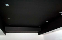 Черные матовые натяжные потолки
