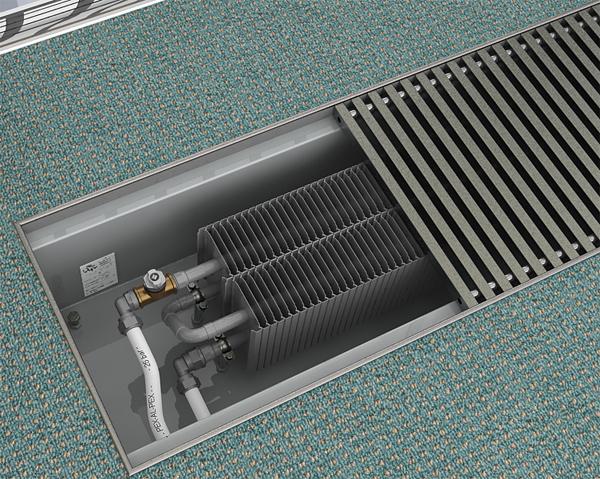 Водяной конвектор отопления