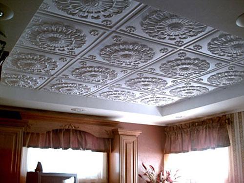 Потолочная плитка с рисунками