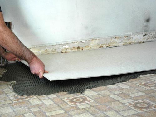 Установка подкладочной обшивки