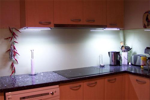Ксеноновые лампы в кухне
