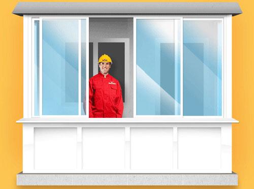 Этапы работы остекления балконов и лоджий