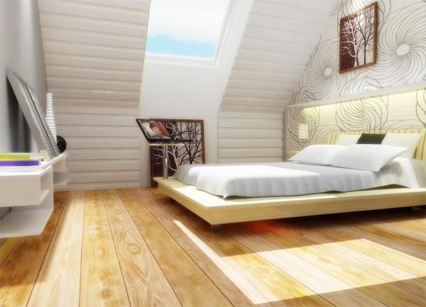 Установка мебели в мансардном помещении
