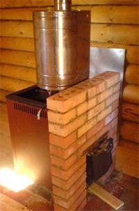 Изготовление металлической печи-калорифера для бани