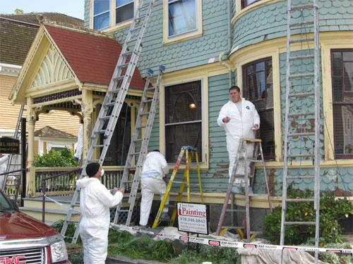 Правила окраски фасадов