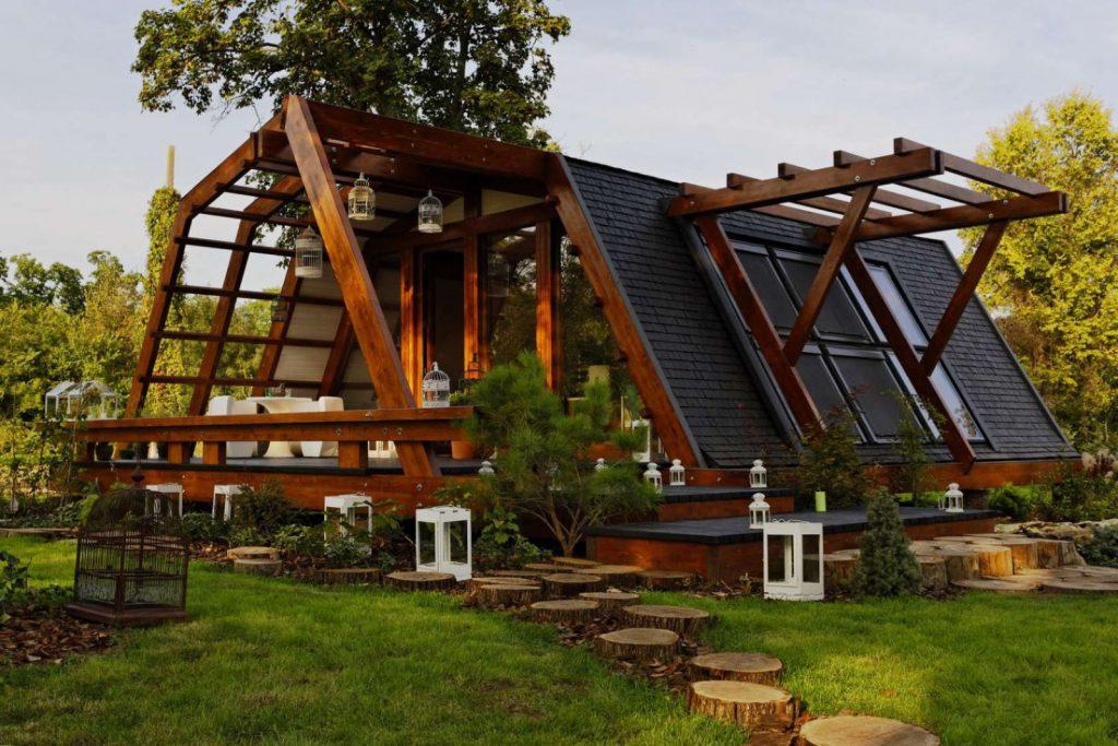Проект стильного деревянного дома