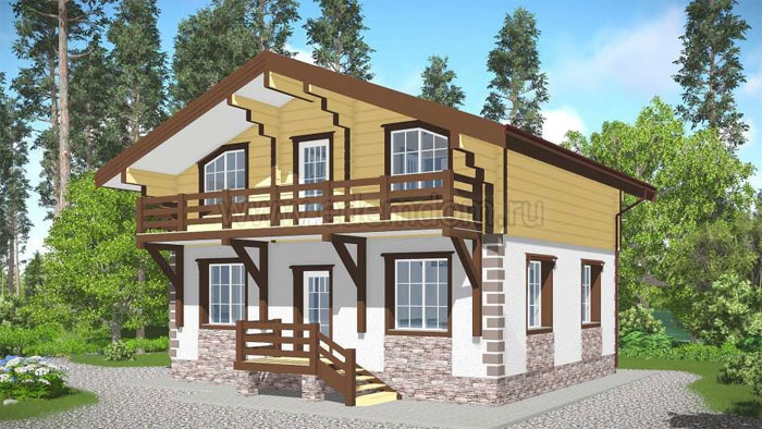 Особенности домов шале из клееного бруса