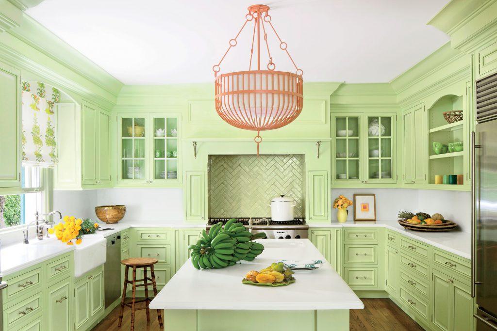Салатовый цвет в интерьере Вашей кухни