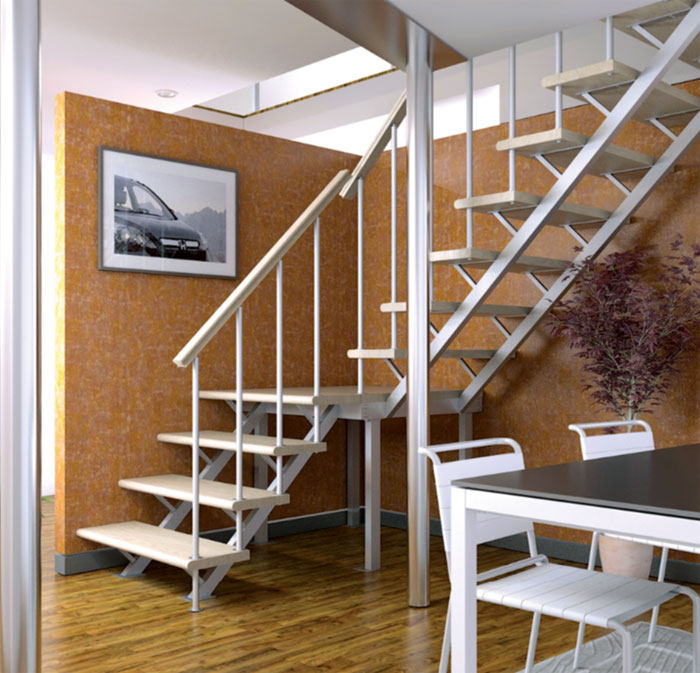 Обустройство освещения домашней лестницы