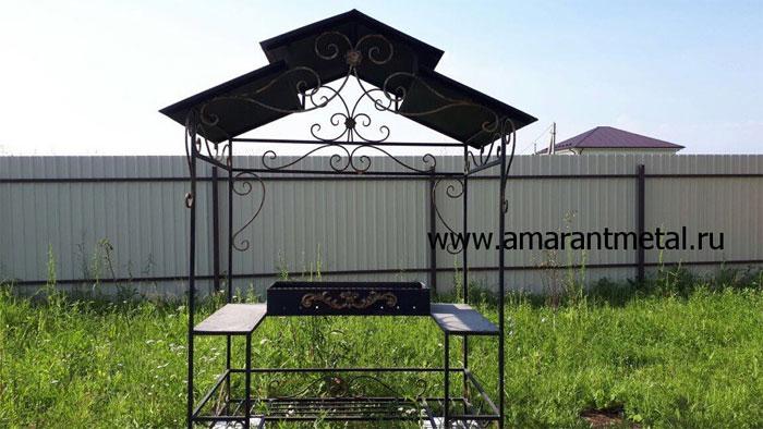 Кованые мангалы с крышей