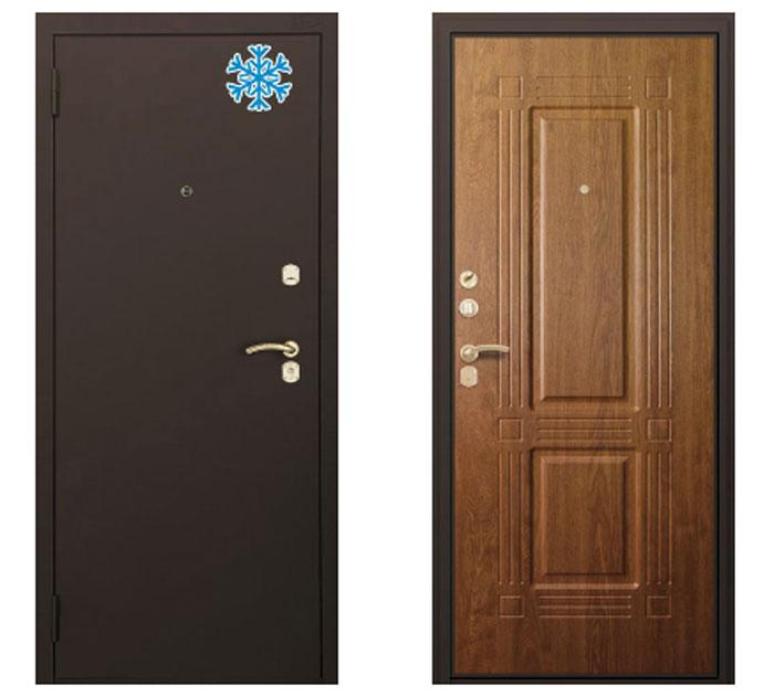 Входные металлические теплые двери