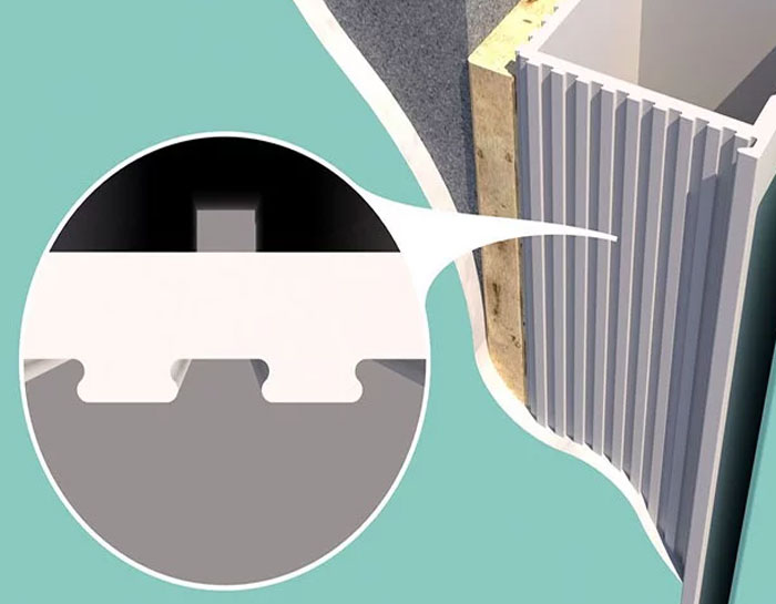 Скрытая коробка двери