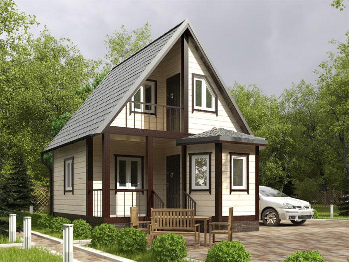Каркасные дома с эркером