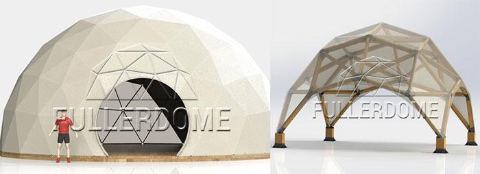 Какова цена сферического тента-шатра
