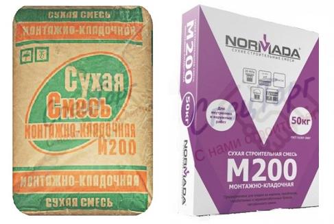 М200 смесь сухая: назначение и основные характеристики