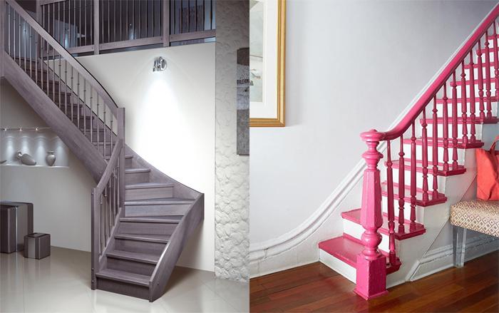 Как выбрать цвет лестницы в частном доме